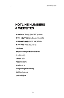 Hotlines Numbers and Websites